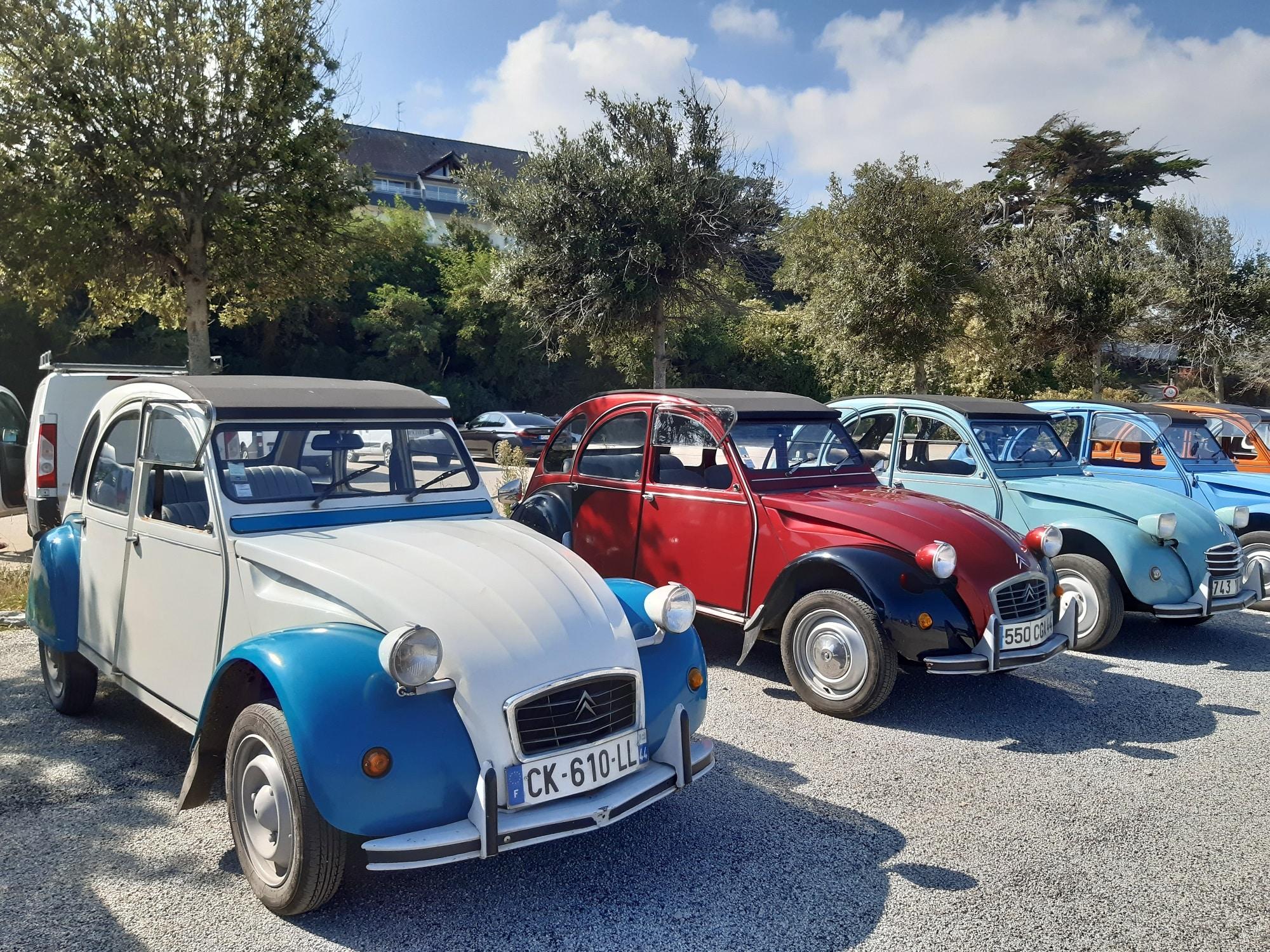 Rallye 2CV à la Presqu'ile de Rhuys dans le Golfe du Morbihan avec OBH EVENEMENT